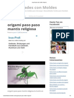 Origami Paso Paso Mantis Religiosa