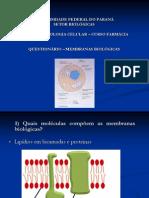 questionário membranas biológicas