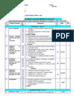 planificare matematica cls a IV-a