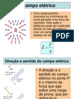 Aula 4 - Eletroestática - Campo elétrico