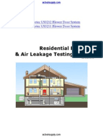 AC-Manual-Residential Pressure & Air Leakage Testing