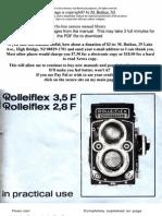 Rolleiflex 3.5F - User Manual