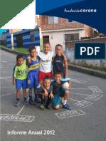 Reporte Anual Fundación Corona 2012