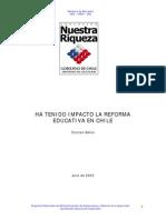 Bellei, 2003. Impacto Reforma Educativa