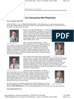 Affinity Healthcare LLC Announces New Physicians