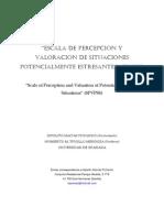 Artículo. ESCALA DE PERCEPCIÓN Y VALORACIÓN DE SITUACIONES POTENCIALMENTE ESTRESANTES