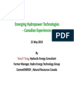 Emerging Hydropower Technologies - Tony P Tung