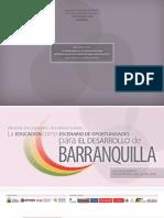 """Programación del Primer Encuentro Internacional """"La Educación como Escenario de Oportunidades para el Desarrollo de Barranquilla"""""""