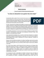 Boletín Conclusiones I Encuentro Internacional
