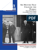 Peacemakers SIX MONTHS THAT CHANGED THE WORLD: THE PARIS PEACE CONFERENCE OF 1919. Margaret MacMillan
