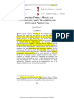 Losing the Paper – Mortgage Assignments, Note Transfers and Consumer Protection SSRN-id2168189