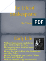 the life of shakespeare2 0