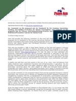 Farm Aid Organizational Comment - Food Safety Modernization Act