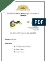 Comunicación interna del municipio de Ascensión de Guarayos