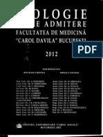 Admitere Medicina Bucuresti Teste 2012
