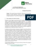 Unidad 4 -Lectura Obligatoria - La Tutela de Derechos en El NCPP