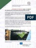 Solicitud de Intervención de Urgencia (19/11/2013)