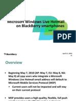 Microsoft Windows Live Hotmail on BlackBerry