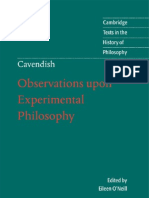 Observations Upon Experimental Philosophy (Cambridge Texts in the History of Philosophy) - Margaret Cavendish