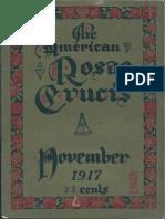 The American Rosae Crucis, November 1917