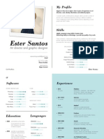Ester Santos, CV/ Portfolio 2013