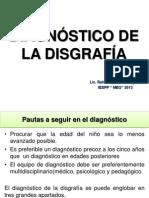 DIAGNÓSTICO DE LA DISGRAFÍA 19-11-13