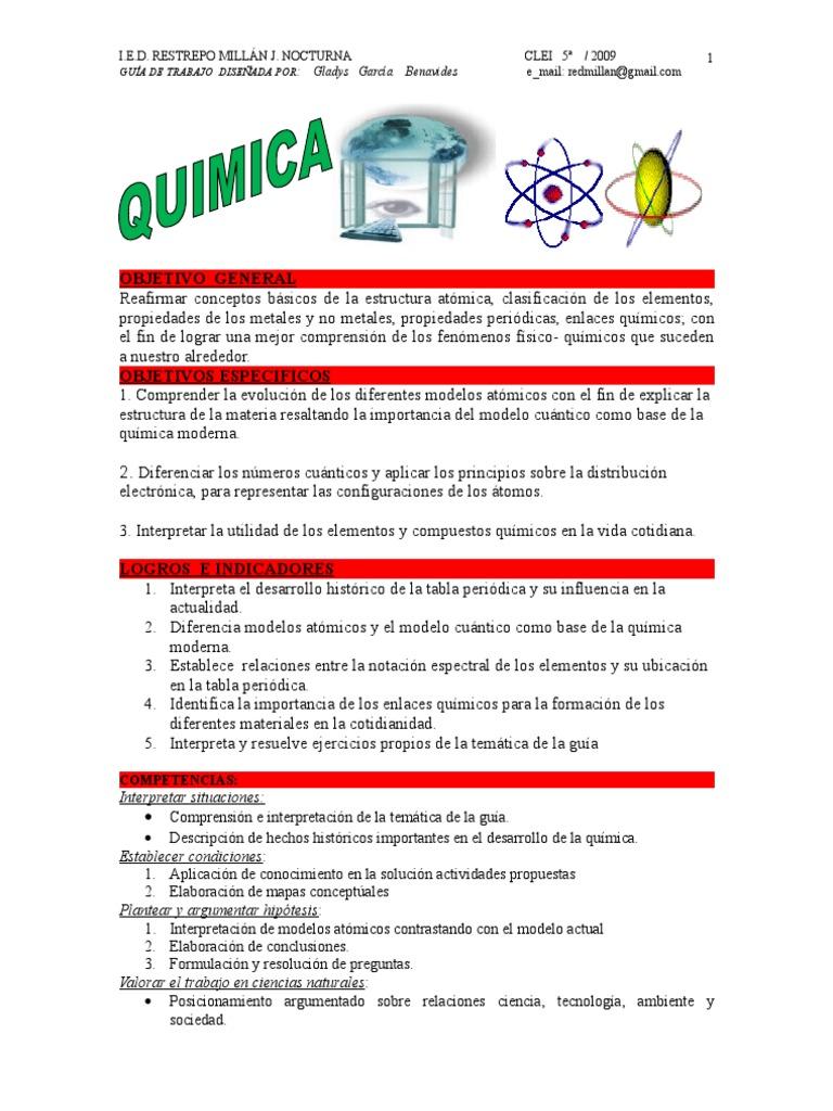 quimica_guia2 - Tabla Periodica Y Estructura Atomica
