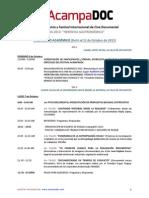 Agenda Acampadoc 2013