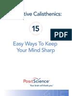 PSC Cognitive Calisthenics