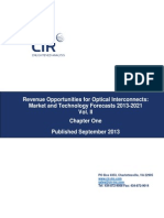 Chapter from CIR Report, REVENUE OPPORTUNITIES FOR OPTICAL INTERCONNECTS:MARKET AND TECHNOLOGY FORECAST - 2013 TO 2020 VOL II