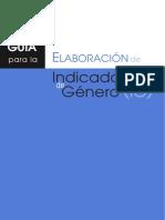 Guia Para La Elaboracion de Indicadores de GENERO