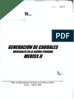 Generacion de caudales mensuales en la sierra peruana meriss II.pdf
