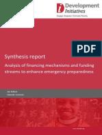 Analysis of financing mechanisms and funding streams to enhance emergency preparedness