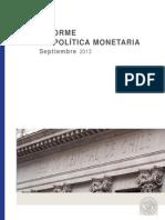 Informe Politica Monetaria Sep 13 Ok