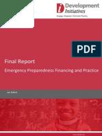 Final Report - Emergency Preparedness Financing and Practice