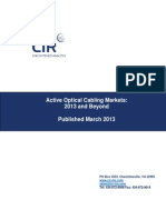 Chapter from CIR Report, ACTIVE OPTICAL CABLING MARKETS