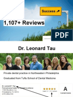 Dr Tau's Three Rules for Getting 1,107+ Reviews