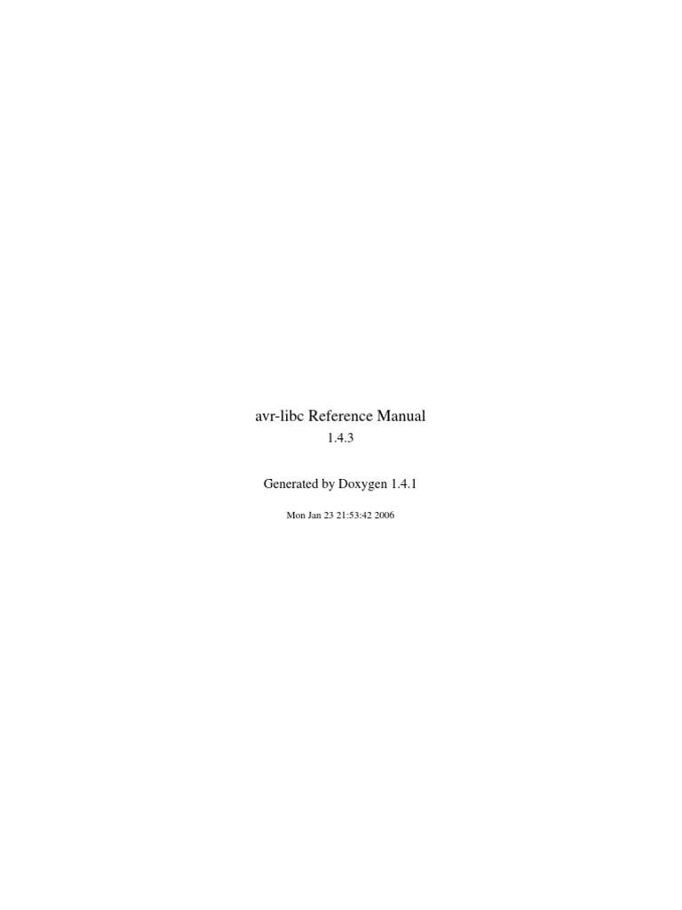 avr libc user manual 1 4 3 booting c programming language rh es scribd com avr-libc reference manual 1.7.1 avr-libc reference manual 1.7.1