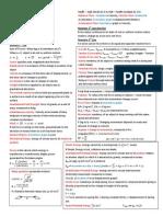 Physics Exam Cheat Sheet