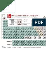 química tabla periódica de los elementos - mc graw hill