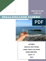 Desalinizador Casero