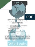 Wikileaks Secret TPP Treaty IP Chapter