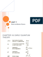 Chapter 18 - Early Quantum Theory