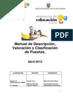 7. MANUAL DE DESCRIPCIÓN, VALORACIÓN DE PUESTOS