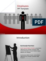 0022 Employees Ppt Template