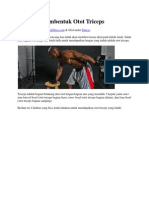 4 Latihan Pembentuk Otot Triceps