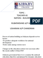 Teacher as Nation Builder