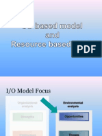 IO & Resource Based Model - SM