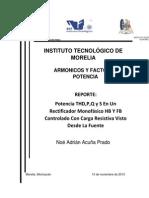 Reporte Exposicion Rectificador Controlado Visto Desde La Fuente