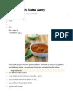 Baked Doodhi Kofta Curry